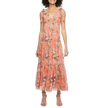 Melonie T Sleeveless Floral Maxi Dress