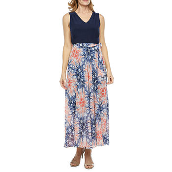 Studio 1 Sleeveless Abstract Maxi Dress
