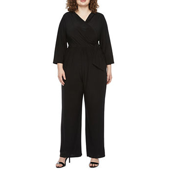 Tiana B Plus 3/4 Sleeve Jumpsuit
