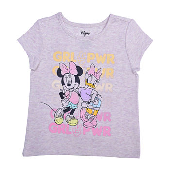 Okie Dokie Toddler Girls Crew Neck Minnie Mouse Short Sleeve Graphic T-Shirt