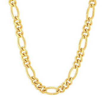 Stainless Steel 30 Inch Figaro Chain Necklace