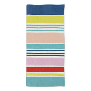 Outdoor Oasis Multi Stripe Beach Towel
