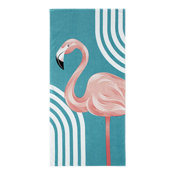 Outdoor Oasis Flamingo Beach Towel