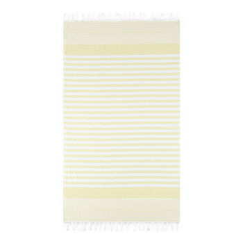 Linden Street Organic Cotton Flat Weave Stripe Beach Towel