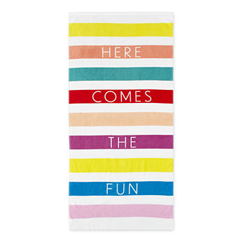 Outdoor Oasis Here Comes The Fun Beach Towel