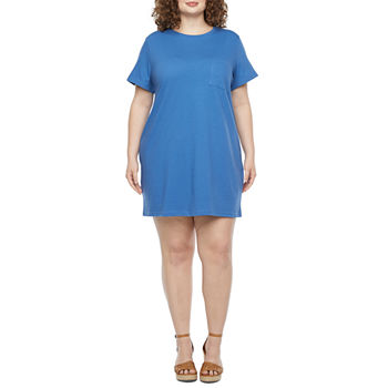 a.n.a Short Sleeve T-Shirt Dress - Plus