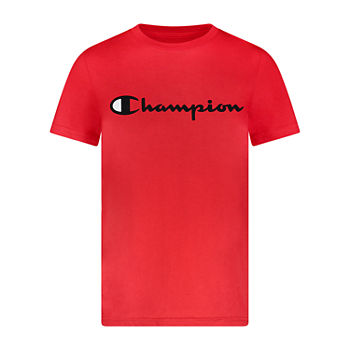 Champion Big Boys Crew Neck Short Sleeve Graphic T-Shirt