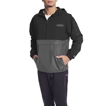 Champion Mens Hooded Neck Long Sleeve Quarter-Zip Pullover
