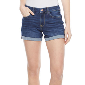 Arizona - Juniors Womens Mid Rise Midi Short
