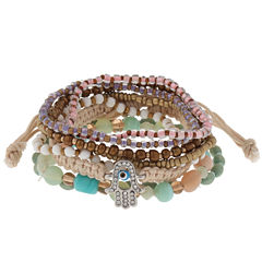 Decree® 8-pc Multi-Color Stretch Bracelet Set