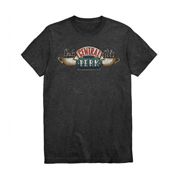 Friends Central Perk Mens Crew Neck Short Sleeve Graphic T-Shirt