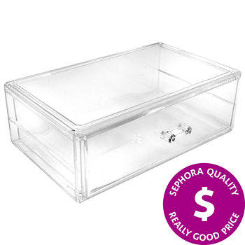 SEPHORA COLLECTION Clear 1-Drawer Makeup Organizer