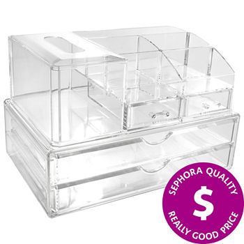 SEPHORA COLLECTION Clear Makeup Organizer Set