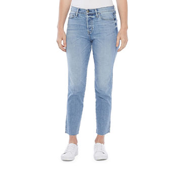 a.n.a Womens High Rise Straight Leg Jeans
