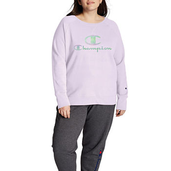 Champion Womens Crew Neck Long Sleeve T-Shirt Plus