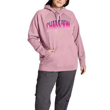 Champion Womens Hooded Neck Long Sleeve Sweatshirt Plus