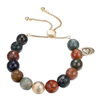 Footnotes Fancy Jasper 8 1/2 Inch Link Bolo Bracelet