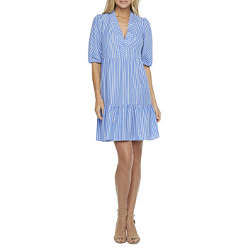 52seven Short Sleeve Babydoll Dress