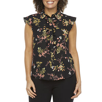 Liz Claiborne Womens Short Sleeve Blouse