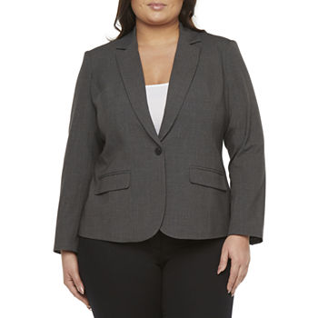 Worthington Womens Regular Fit Blazer-Plus