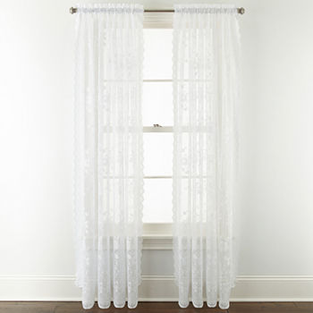 treatment sale kitchen sheer unique penny at window treatments curtains panel annual lace reviews jcpenney curtain