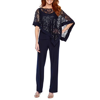 52eb3b59740 3 4 Sleeve Blue Jumpsuits   Rompers for Women - JCPenney