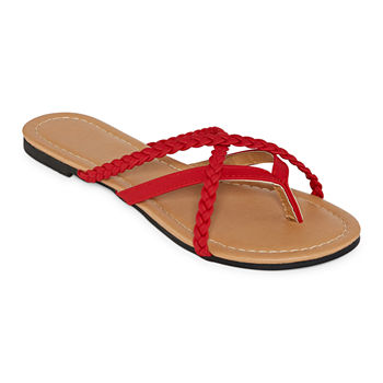 42cbea5377e2 Red Women s Sandals   Flip Flops for Shoes - JCPenney