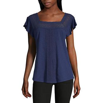 5dd5039f Liz Claiborne Short Sleeve Tops for Women - JCPenney