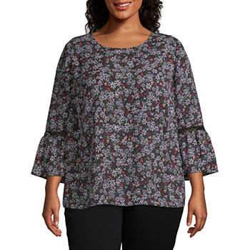 ebc3dcc6c3e913 Plus Size Georgette Tops for Women - JCPenney