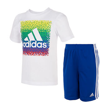 adidas Little Boys 2-pc. Short Set
