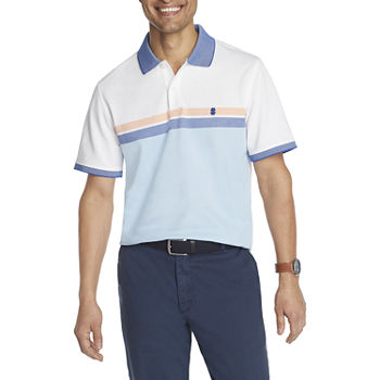 IZOD Mens Cooling Short Sleeve Polo Shirt