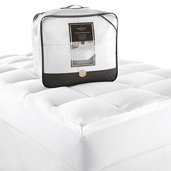 Fieldcrest Luxury Sateen Pillow Top Antimicrobial Fiberbed