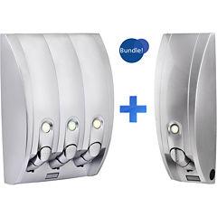 Curve Silvertone Gloss Single & Triple Liquid Soap & Shampoo Dispensers