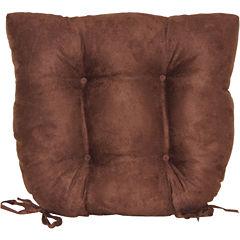 Faux-Suede Chair Cushion