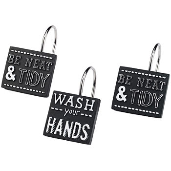 Avanti Shower Curtain Hooks Bathroom Accessories For Bed Bath