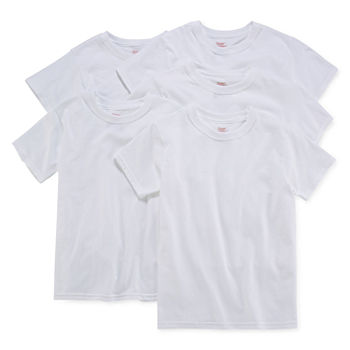 Hanes Little & Big Boys 5 Pack Crew Neck Short Sleeve T-Shirt