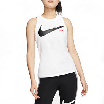 Nike Womens Crew Neck Sleeveless Tank Top