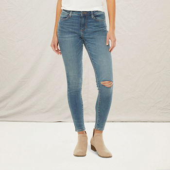 a.n.a Womens Mid Rise Ripped Jegging
