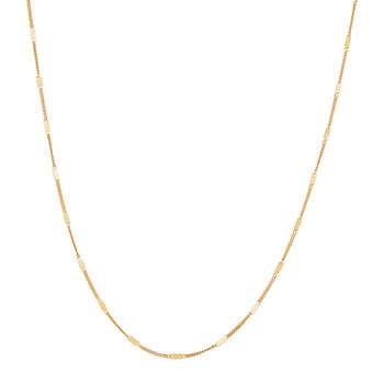 14K Gold 18 Inch Solid Cable Chain Necklace