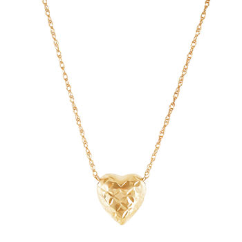 Womens 10K Gold Heart Ninjago Pendant Necklace