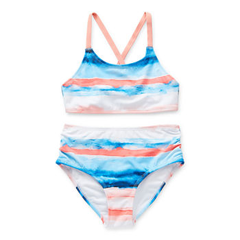 Peyton & Parker Little & Big Striped Bikini Set Swimsuit Set
