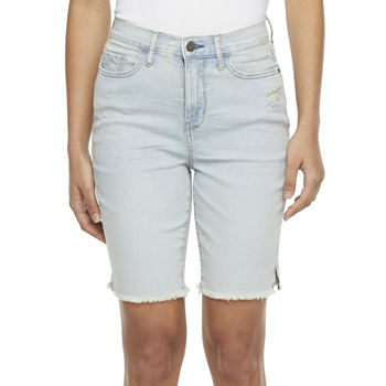 "a.n.a Womens High Rise 9"" Bermuda Short"