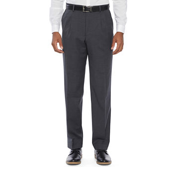 Stafford Mens Stretch Classic Fit Pleated Suit Pants - Big and Tall