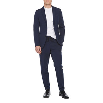 JF J. Ferrar 360 Stretch Washable Navy Mens Super Slim Fit Suit Separates