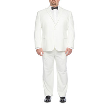 JF 360 Ultra Mens Classic Fit Ivory Suit Separates - Big & Tall