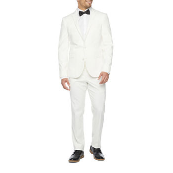 JF J. Ferrar Ultra Comfort Ivory Super Slim Fit Suit Separates