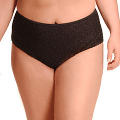 Paramour Brocade High Waist Swimsuit Bottom-Plus