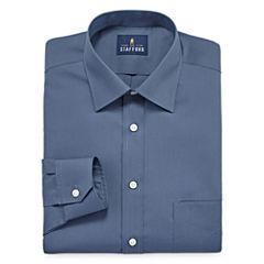 Stafford Travel Easy-Care Broadcloth Big & Tall Long Sleeve Dress Shirt