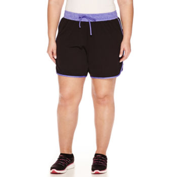 plus size workout shorts shorts for women - jcpenney