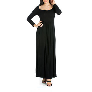 4c63ff1c930 24 7 Comfort Apparel Long Sleeve Maxi Dress
